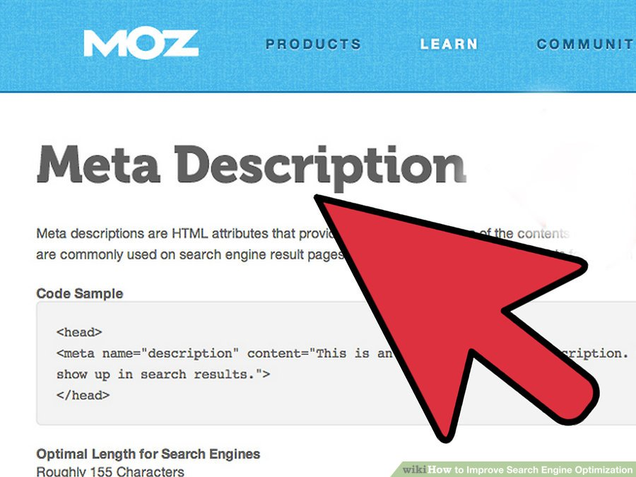 Use descriptions and Meta tags
